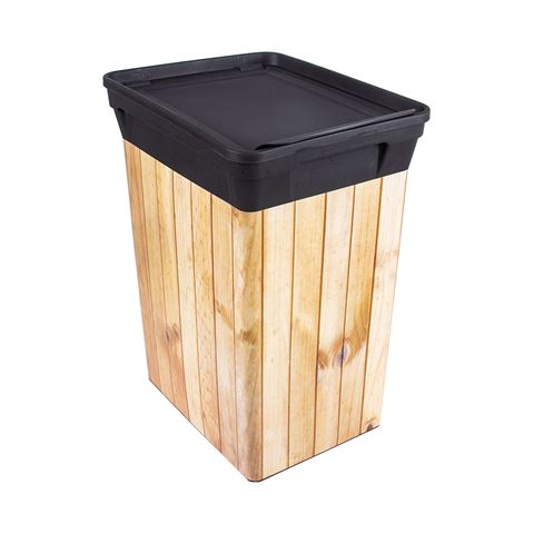 QUTU TRASHBIN Light Wood 10 L çöp kovası